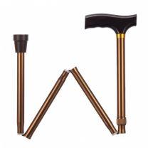 Opvouwbare wandelstok - brons